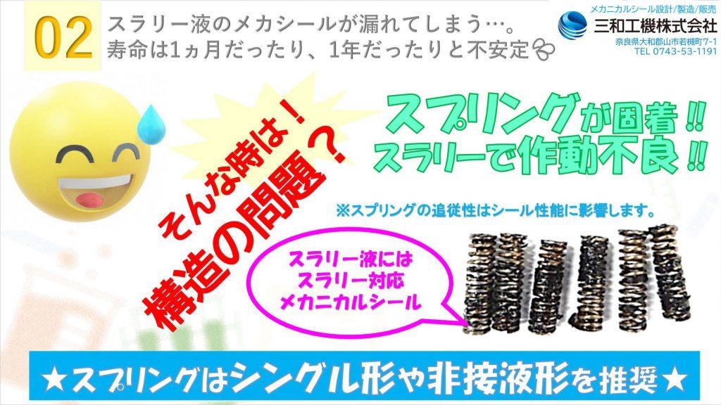 【メカニカルシール】よくある漏れ事例と対策02